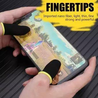 1 Pair Gaming Finger-Sleeve Touch Screen Thumbs Sleeve Non-Scratch Sensitive Breathable For Pubg Mobile Phones/Tablet/iPad By Bajrang