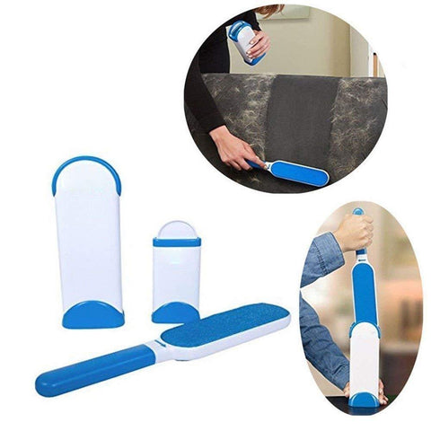 Reusable Pet Fur Remover With Self-Cleaning Base