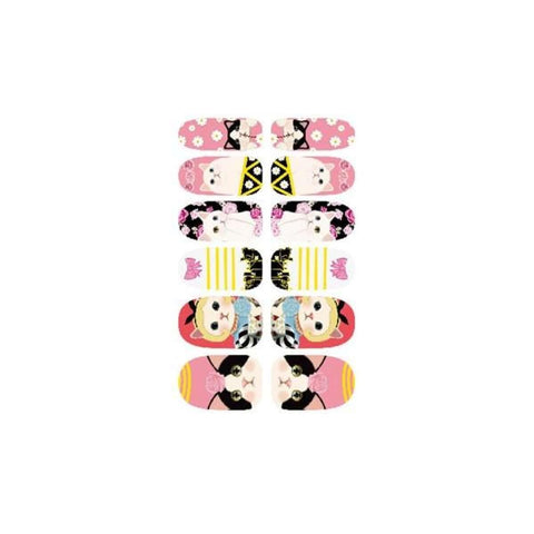 Kawaii Cat Design Nail Art Sticker Self Adhesive price in Nepal