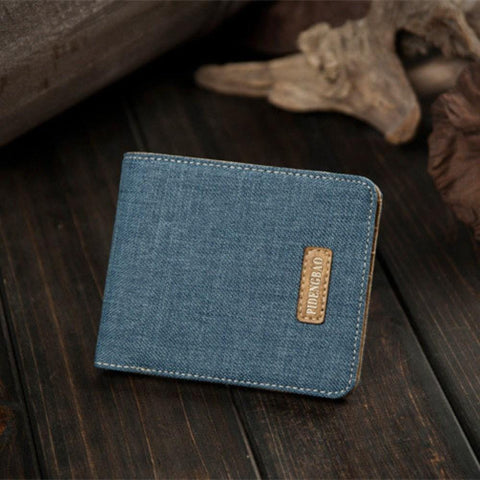Vintage Canvas Short Men Wallets Card Holder Purse Wallet(41000953)