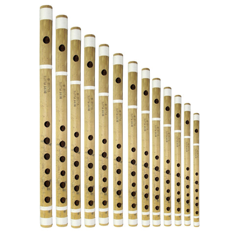13 Pcs Wooden Bansuri Set- Natural price in Nepal