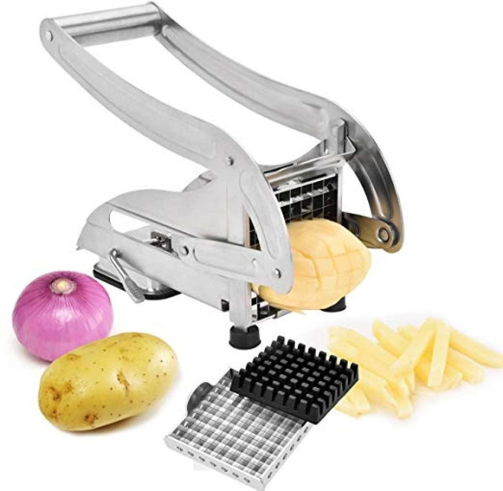 Potato Cutter Slicer Stainless Steel French Fry Chopper with 2 Blades for Vegetable price in Nepal