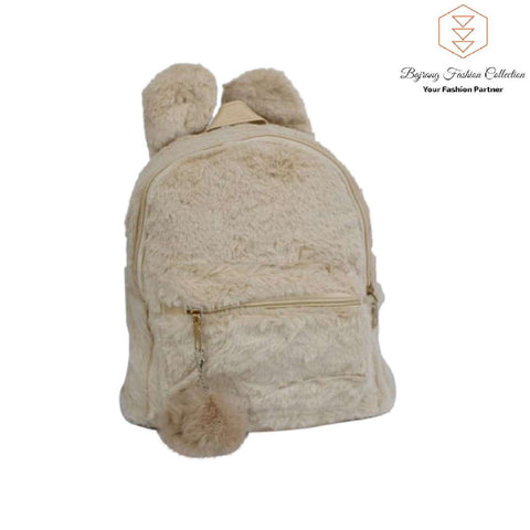 Small Bag New Fur Woolen Lattice Shoulder Bag Fashion Wild College Style Women's Mini Backpack