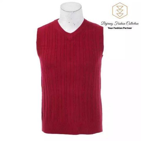 2020 Men Knitting Sweater Vest Solid Color Cashmere Sweaters Sleeveless Pullover Men V-Neck Slim Knitted Waistcoat By Bajrang