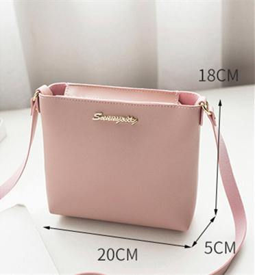 41001242 Simple Design Women's Faux Leather Zipper Crossbody Shoulder Travel Bag