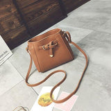 41001397 Women PU Leather Shoulder Crossbody Bag Barrel Bag With Arrow Belt