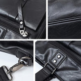 41001436 High Quatily Pu Leather Portable High Capacity Business Portable Hand Laptop Bag-Black