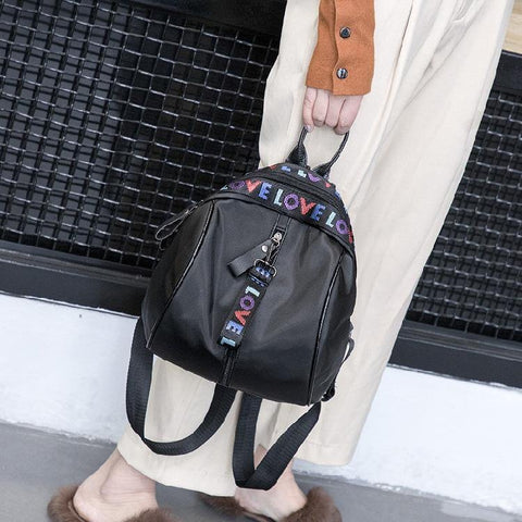 41001729 Korean Tide Fashion Wild Canvas Travel Shoulder Backpack