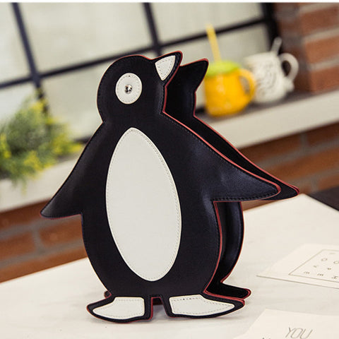 41001953 Cute Design Penguin Satchel Shoulder Cross Body Bag Handbag