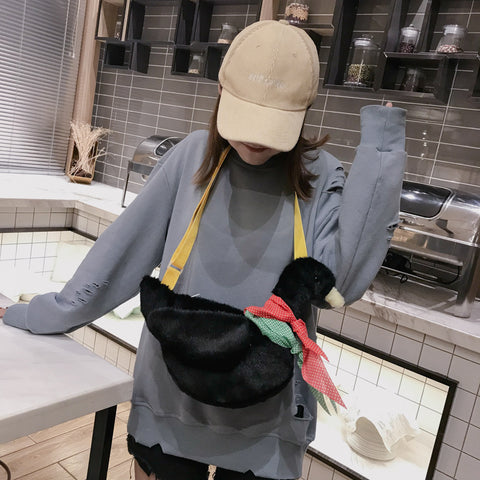 41001979 Plush Toy Soft Cute Duck Cartoon Shoulder Bags