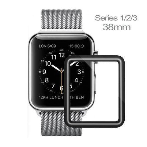 14001219 38mm Full Coverage Scratch Proof Tempered Glass For Apple iWatch Series 1,2,3