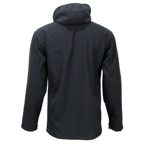 Black Solid Softshell Jacket For Men