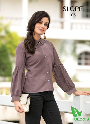 Slop Solid Western tops in Blended Fabrics (COFFEE ) price in nepal
