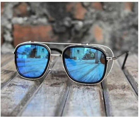 Tom Hardy Blue Ironman Sunglasses - Unisex