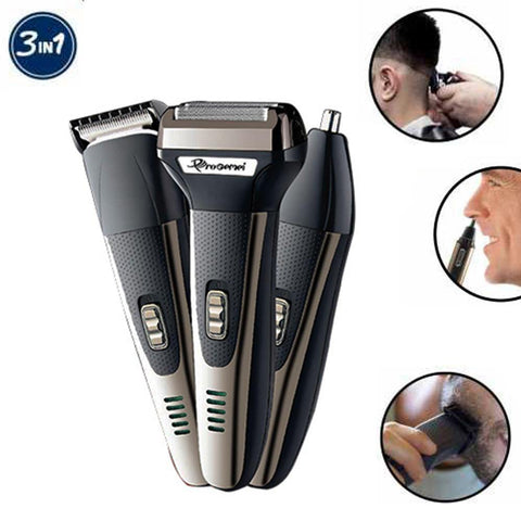Gemei ProRechargable Cordless Nose Ear Hair Beard Shavers Trimmer And Shaver Set price in nepal
