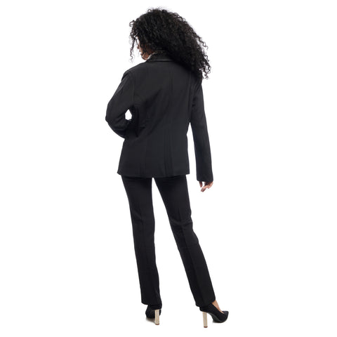 Women's Single Breasted waist lined Structured Blazer by Attire Nepal