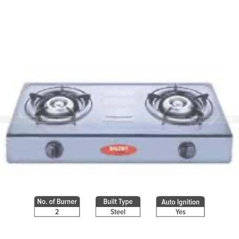 Baltra Charm 2 Burner Automatic Gas Stove
