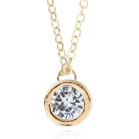Round Crystal Pendant Necklace