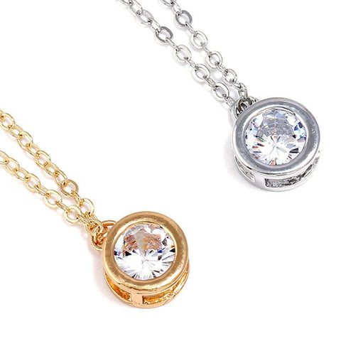 Round Crystal Pendant Necklace price in Nepal