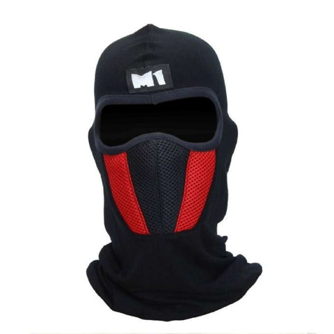 Black/Red M1 Ninja Full Face Mask With Air Filter