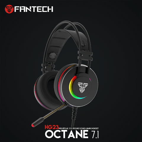 FANTECH HG23 Headphone Personalize With Octane 7.1 RGB USB Just Wired Gaming Headset Alloy Earmuffs For PC PS4 Gaming Headphones price in nepal