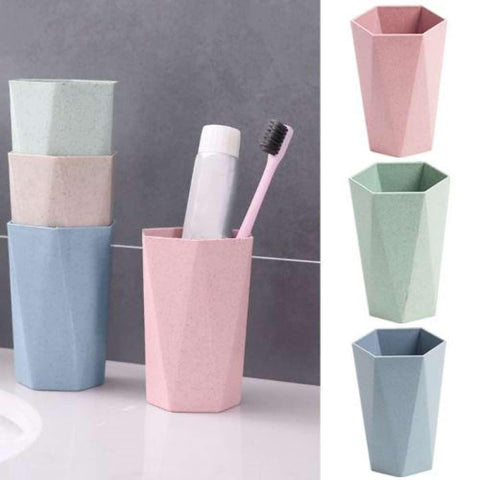 Creative Eco-Friendly Geometric Cup Wheat Straw Brushing Bathroom Gargle price in Nepal