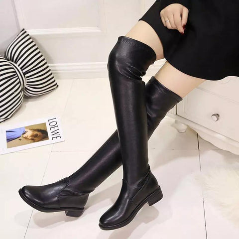 Luxurious New Trendy Long Knee Winter Boots For Women ( 8848)