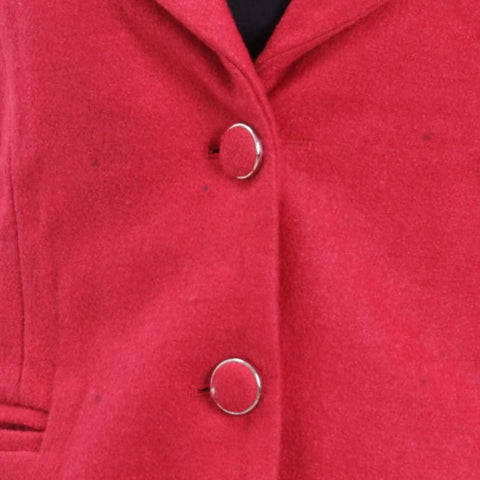 Attire Nepal Red Solid Coat For Women