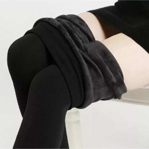 Thick Fleece Fur Lined Black Leggings