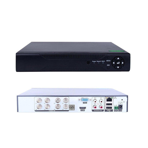 Quanmin 8Ch H.264 Network Hybrid 6 In 1 Dvr Analog Dvr+Ahd Dvr+1080P Onvif Ip Camera Nvr+Tvi Dvr+Cvi Dvr+Pixelplus Camera Dvr Realtime Remote View Surveillance Security System Digital Video Recorder