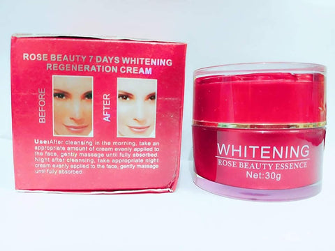 Whitening Rose Beauty 7Days Whitening Regeneration Cream 30g /By ShopHill