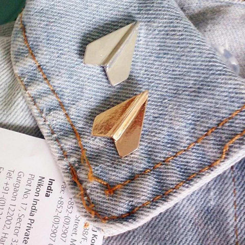 Airplane Shaped Alloy Brooch For Women