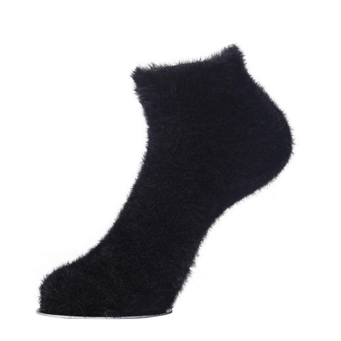 Pack Of 5 Unisex Adult Super Warm Soft Fluffy Faux Fur Ankle Socks