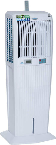 Symphony Storm 100i Desert Tower Air Cooler 100-litres with Remote, LCD Control Panel, 3-Side Honeycomb Pads, Multistage Air Purification & Low Power Consumption (White) price in Nepal