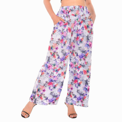 Floral Printed Stretchable Pant For Women( Random Colour/Print May Very) By Arushi