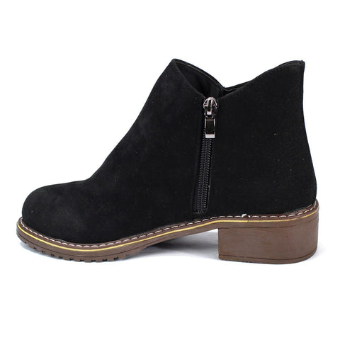 Solid Suede Boots For Women