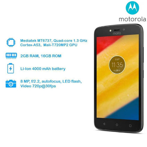 Motorola Moto C Plus Smart Mobile Phone {2GB RAM & 16GB ROM}