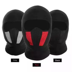 Combo Of 3 Air Filter Full Ninja Mask - Red/Black/Grey