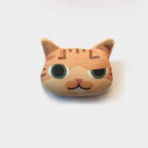 3D Lovely Handmade Smirking Cat Emoji Brooch