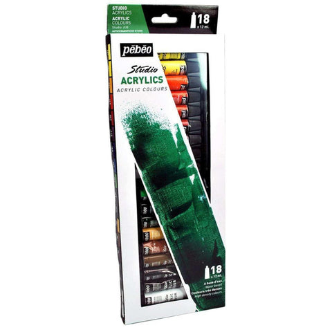 Pebeo High Viscosity Studio Acrylics - Set Of 18 Colours In 12 Ml Tubes price in Nepal