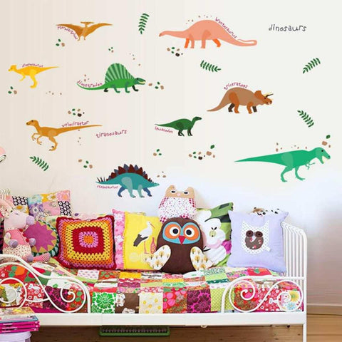 Original Jungle Dinosaur Wall Stickers For Kids Rooms