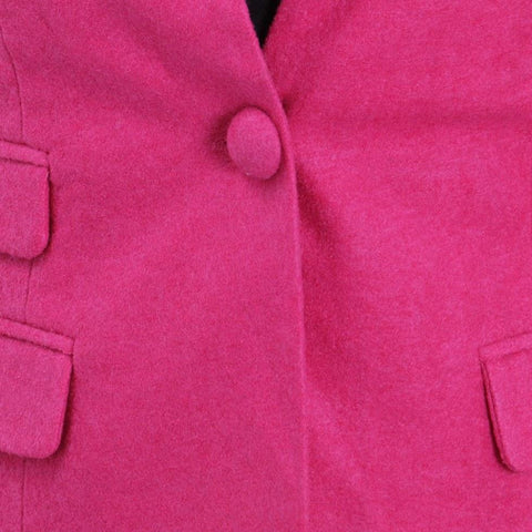 Attire Nepal Pink Solid Coat For Women