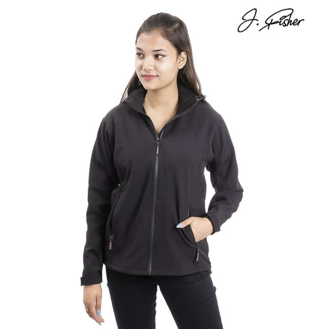 J.Fisher Solid Softshell Jacket for Women