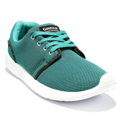 GOLDSTAR Aqua Green Lace-Up Sport Shoes For Men