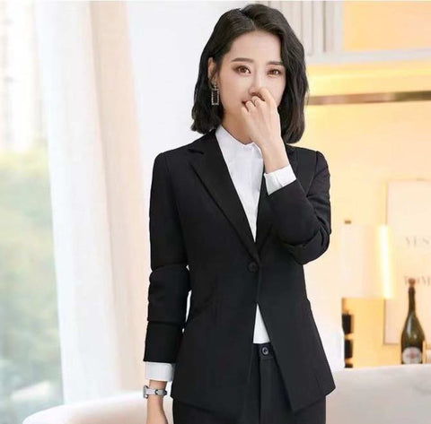 Women's Single Breasted Structured Notched Lapel Blazer by Attire Nepal