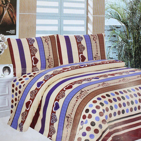 Copy of Copy of Home Glace Cotton 1 Bed Cover Set,1 Bed Sheet For Double Bed, 2 Pillow Covers, 4 Pcs Set