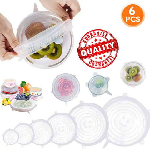 6 Pcs/Set Perfect Seal Silicone Super Stretch Lids price in Nepal