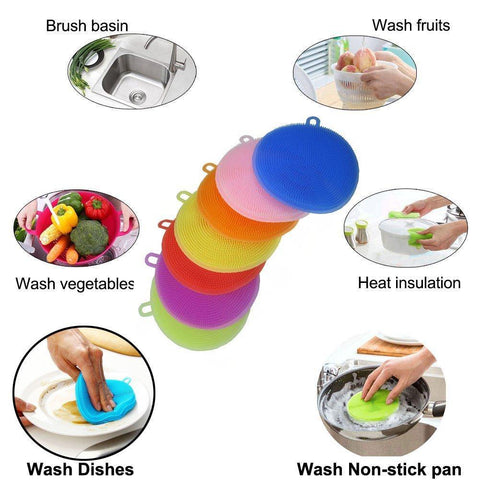 Clean Dish Washing Soft Silicone Sponge Antibacterial Kitchen Scrubber price in Nepal