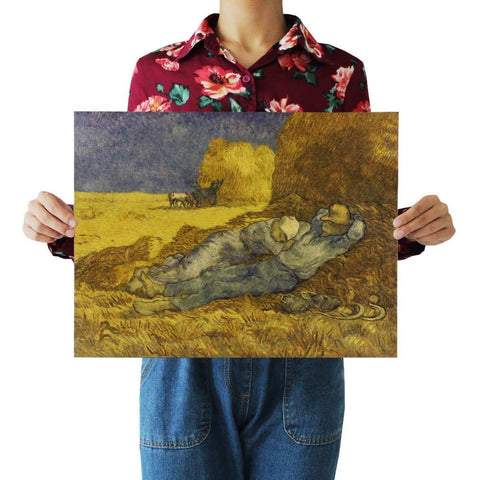 Van Gogh Haystacks Field Reaper Decal Home Decor Posters