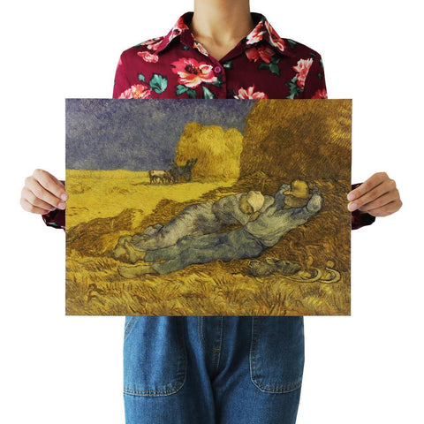 Van Gogh Haystacks Field Reaper Decal Home Decor Posters price in Nepal